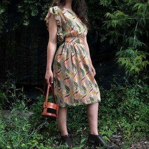 Silk anthropology dress